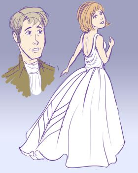 petra tries on dresses by RanaTilion