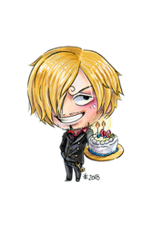 Happy Birthday Sanji (2018) by AnimeGirlMika