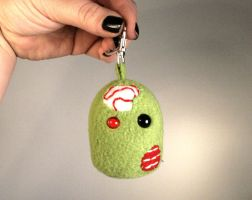 Uber Mini Zombie Key Chain Plushie by Saint-Angel