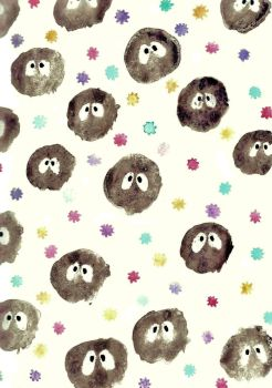 Konpeito and Soot Sprites by ShenaniBOOM