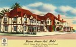 Vintage Motels - Manor House, Long Beach CA by Yesterdays-Paper