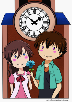 Clock tower date by ota-chan