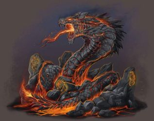 TALOC: lava serpent by GraphicGeek