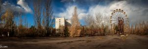 Pripyat Funfair Panorama by Robgrafix