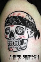 Mexican sugar skull tattoo 1 by ERASOTRON
