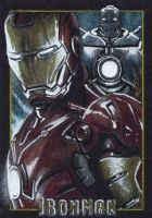 Iron Man - Premier Sketch Card by J-Redd