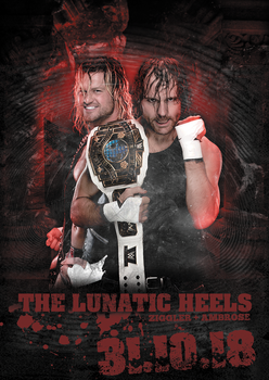Ambrose and Ziggler |The Lunatic Heels by GherdezGFX
