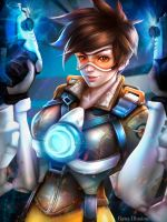 Tracer from Overwatch game by renaillusion