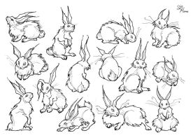 Bunnies sketch by IrenHorrors