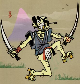 Samurai Chumpaloo coloured by yunni
