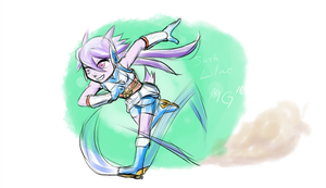 Lilac sprints into battle! by Gx3RComics
