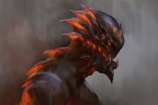 Fire monster by GeorgeStratulat