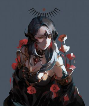 Commission: Blood flower by Taro-K