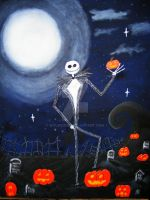 Jack Skellington, a portrait by Wyldsoul