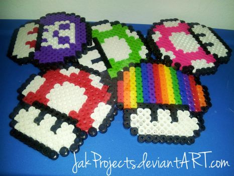 Mario Mushrooms by JakProjects