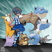 Commission - BlueKanto's Pokemon Teams