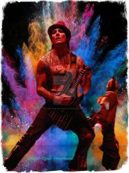 Synyster Gates Color Explosion by Angel-Eyed-Vengeance