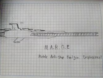M.A.R.G.E Mobile Anti-ship Railgun Emplacement by Flyingtaco2002