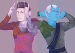 Weyoun and Shran are being silly by tamimio
