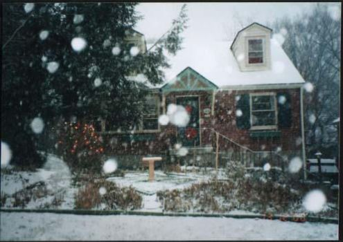 House in Snow by supul-sinac