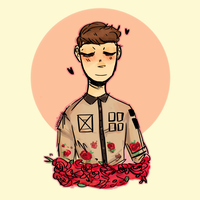 rose-colored boy by PuffGlub