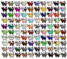 [OPEN] 100 CATS ADOPTABLE by Suvisade