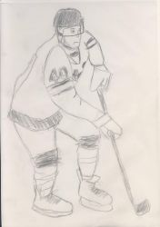 Ice hockey player by EgonEagle