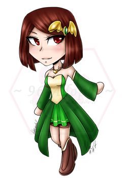 ReyvaTale Chara (New) Chibi (comm.) by 96-Adopts