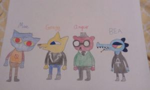 Characters from Night in the Woods Game by Yelliebeans