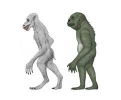 Lovecraft creatures: half man, half beasts by Dragonthunders