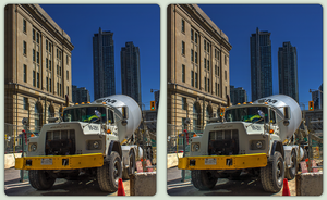 Toronto construction site 3-D / CrossView / Stereo by zour