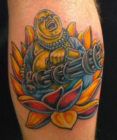 Minigun Budda By Dave Murphy @ Dublin Ink by DublinInk