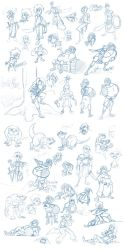 Big pile of sketches by frankperrin