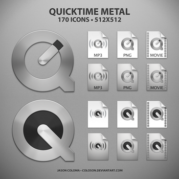 QuickTime Metal Icons by coloson