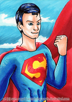 Superman [Day 8] by sambeawesome