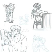 Eddy and Lee sketches by Freyamustdie
