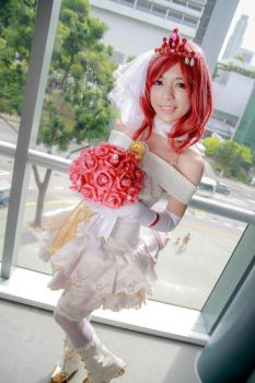Love Live! - Wedding Nishikino Maki by Xeno-Photography