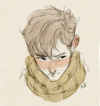 Boy with a scarf by Natello