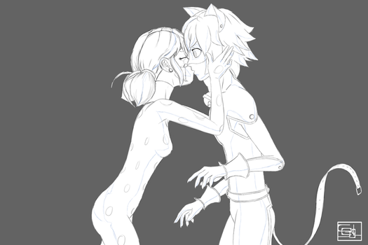 je t'aime LadyNoir wip by g2mdluffy