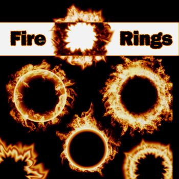 6 Fire Ring Brushes by XResch