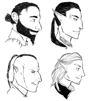 Home Game DnD Portraits by FlockofFlamingos