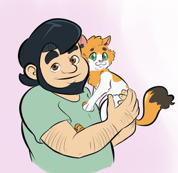 Hugh and Ginky by LordFunkyFist