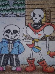 Sans and Papyrus by EshiSnu