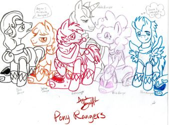 Mighty Morphin Pony Rangers by QueenAnneka