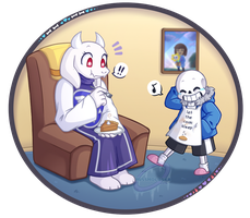 Baking Pie - Soriel Week Day 2 by MissHoloska
