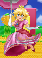 Princess Peach by ShiyaMoeginobi