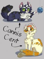 Cannis  Cent (backstories r in the description)  by Leaf-Greens