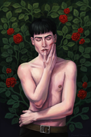 Credence Barebone and roses by Domerk