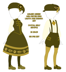 PPO: Golden Queen and Copper King Set | CLOSED by InvaderIka