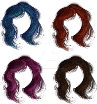 Medium Messy Hair by Trisste-stock-moved